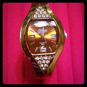 Vintage Tonneau Women Bangle Watch